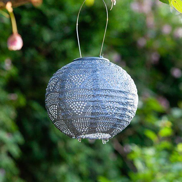 32026 Soji Stella Solar Lantern – Globe – Sky Metallic Blue – Wave