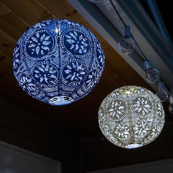 31598 Soji Stella Solar Lantern - Boho - Pearl - Globe