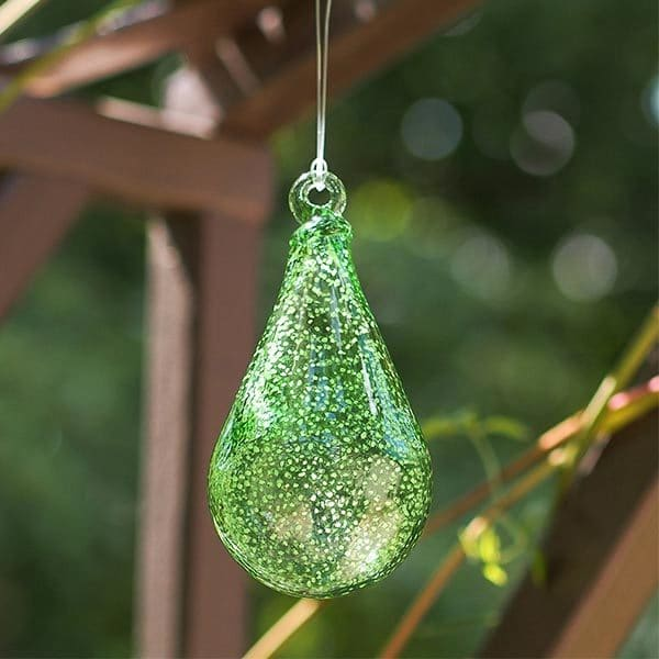 14454W Stardust Teardrop Ornament
