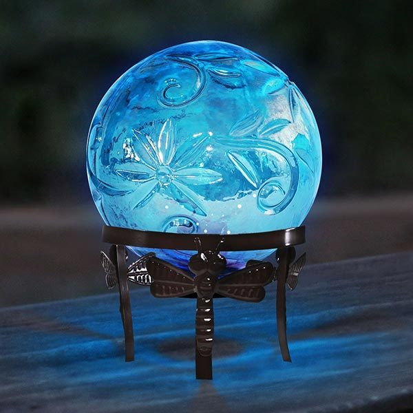 HGY112A-YL-1 Glass Gazing Ball - Blue