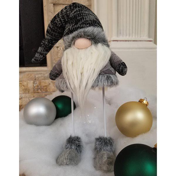 Grey Wobble Gnome Santa
