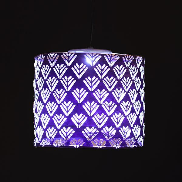 31596 Soji Stella Solar Lantern - Plum Drum