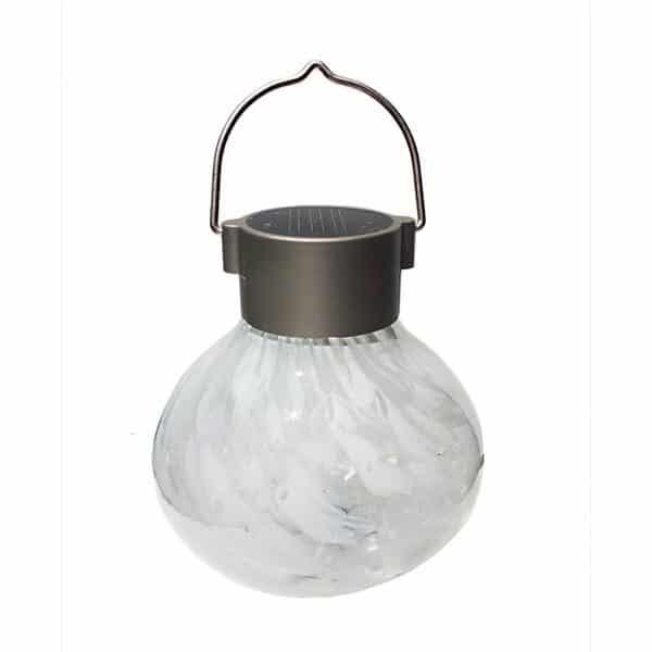 30454 Solar Tea Lantern – White